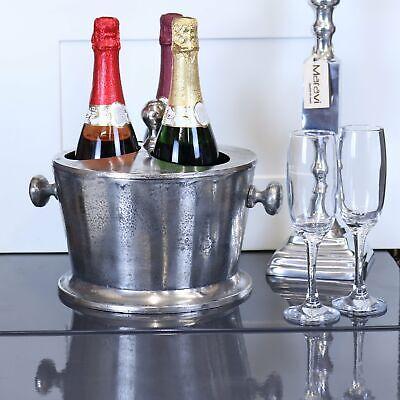 Chuhan Champagner Eiskübel 3 Flasche Abschnitt Mit Deckel Aluminium Vintage Wein