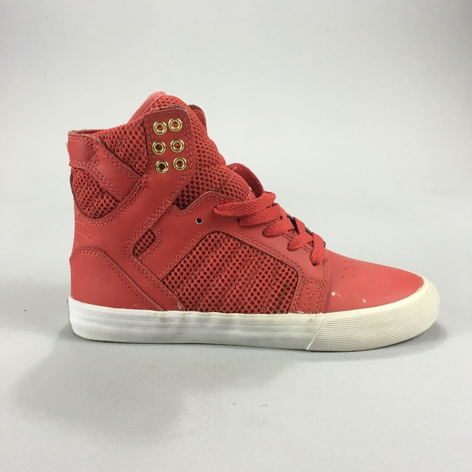 Details about Supra Skytop Womens Skate Shoes Trainers new in box Red Gold White  in UK size 4 ef7e2c83d