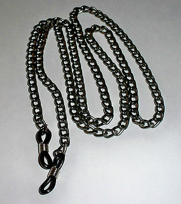 Unisex Gunmetal Link Eyeglass Chain Holder - Men or Women