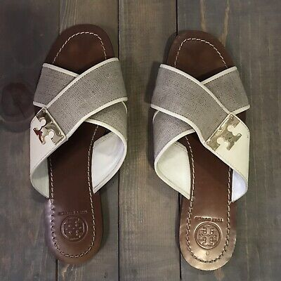 Authentic Tory Burch Culver Flat Slide Size 6.5M (Sold Out Online)