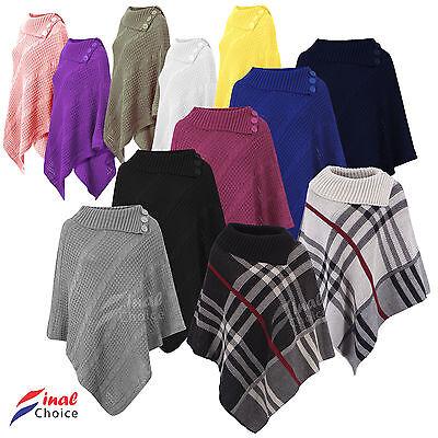 Ladies Women Poncho Shawl Top Cardigan Winter Jacket Lot More Hoodie Scarves Cap