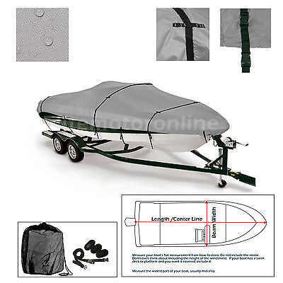 Xpress HD16PF Trailerable Fishing Bass Boat Cover grey