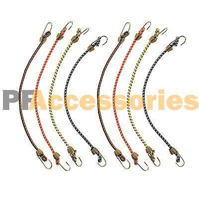 8 Pcs Mini Bungee Cord Strap Heavy Duty Tarp Bungie Elastic Tie Down 10 Inch