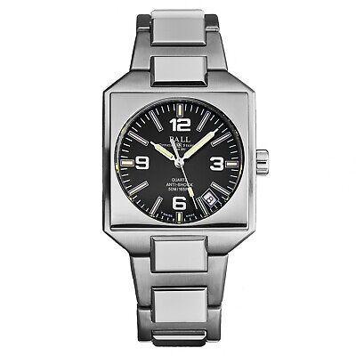 Ball Men's Inspector Black Dial Stainless Steel Swiss Quartz Watch NM1021D-S1-BK