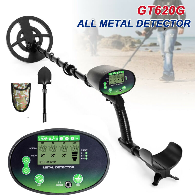 Deep Ground Metal Detector Gold Finder LCD Display w/ Waterproof Search Coil NEW