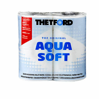 TOILETTENPAPIER Thetford Aqua Soft WC Papier 4 Rollen Camping Wohnmobil Boot