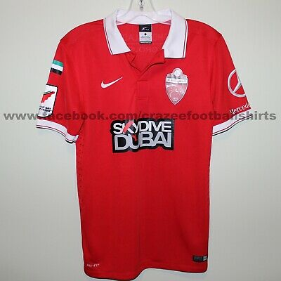 AL AHLI 2015-16 home shirt S Nike player issue? Essa Santo #28 Dubai Red Knights image