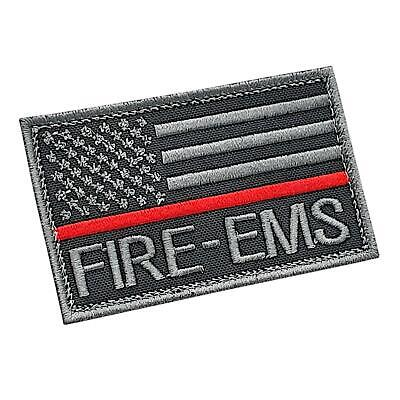 Thin Red Line EMS American Fire Rescue subdued embroidered US cap patch