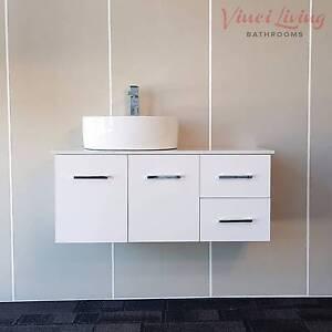 SALE SALE! 1M Bathroom Vanity Unit White Stone Top Ceramic Basin