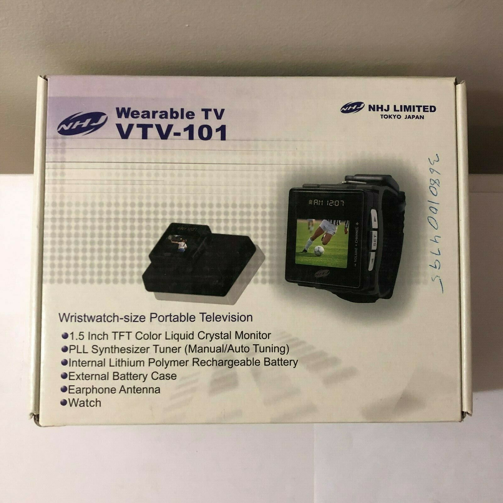 """NEW NHJ 1.5"""" TFT LCD COLOR PORTABLE WEARABLE WRISTWATCH TV T"""