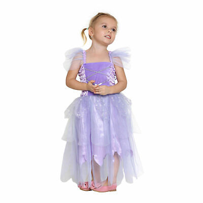 Girls Fairy Princess Dress with Wings 4 Colors Tutu Long Dress - Fairy Princess Costumes