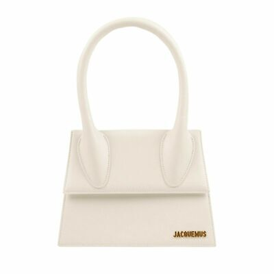 NWT JACQUEMUS White Leather 'Le Chiquito' Crossbody Bag $630