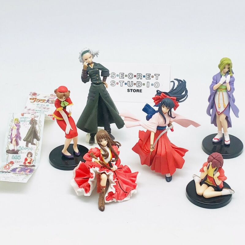 Sakura Wars 6  figure Set ! Gashpon Bandai