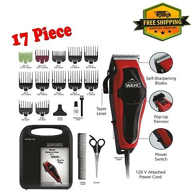 Wahl Professional Hair Cut Machine Barber Salon Cutting Clipper Trimmer Kit Set