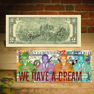 Martin Luther King Jr. and Rosa Parks WE HAVE A DREAM Bill SIGNED by Rency