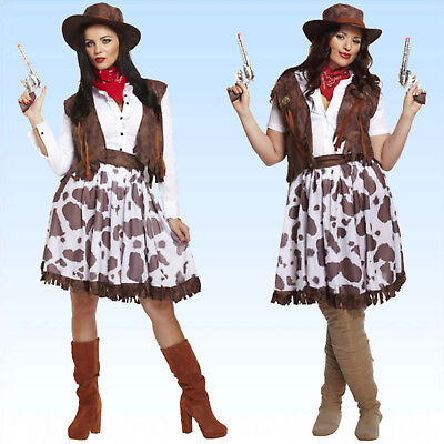 Kostüm Cowgirl Gr. M - XL Cowgirlkostüm Wilder Westen Wildwest Damenkostüm ()