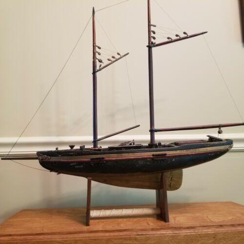 Antique 1920 Pond Boat - Sail Boat - Sailing Ship