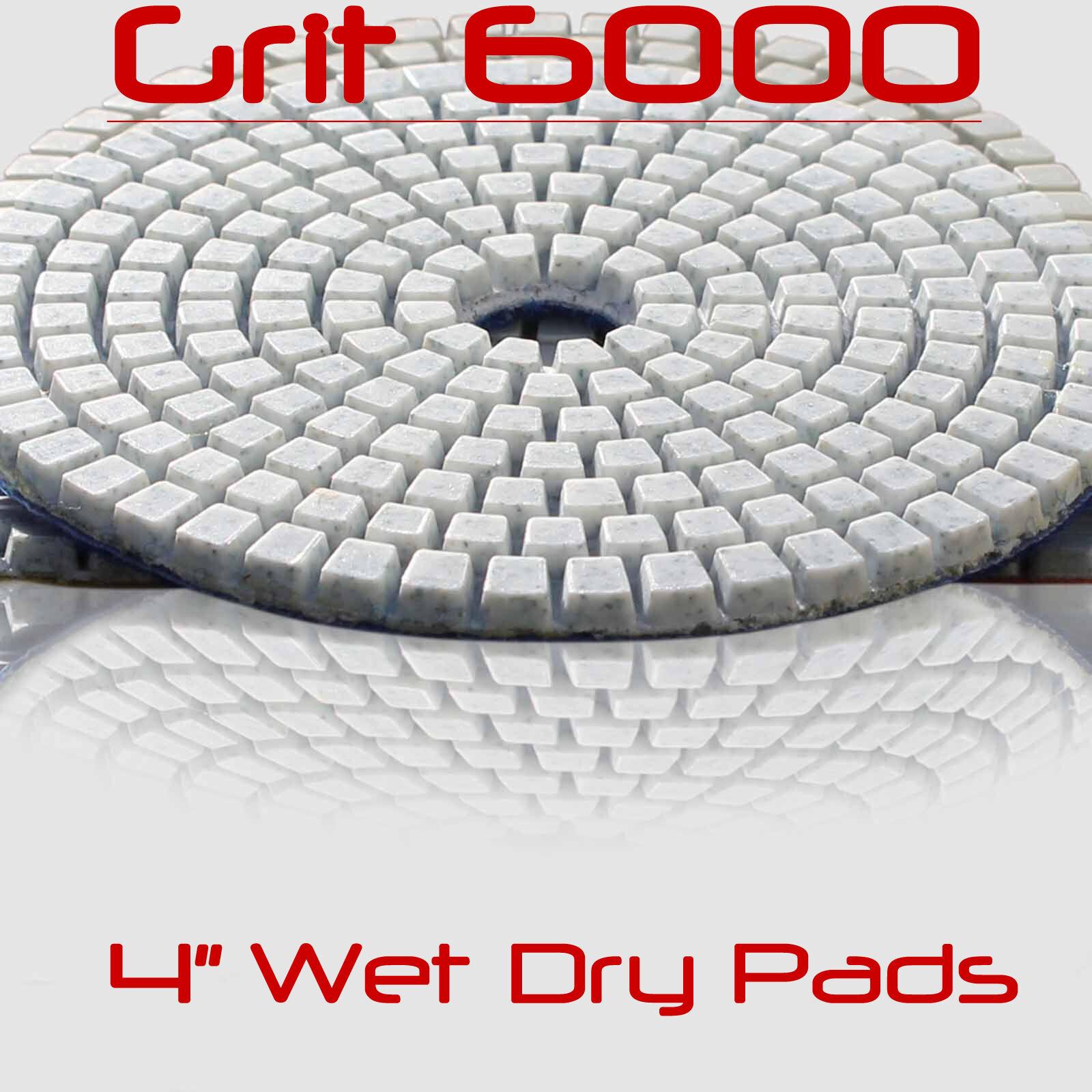 Diamond Polishing Pads Wet Dry 4 Inch Set Kit Granite