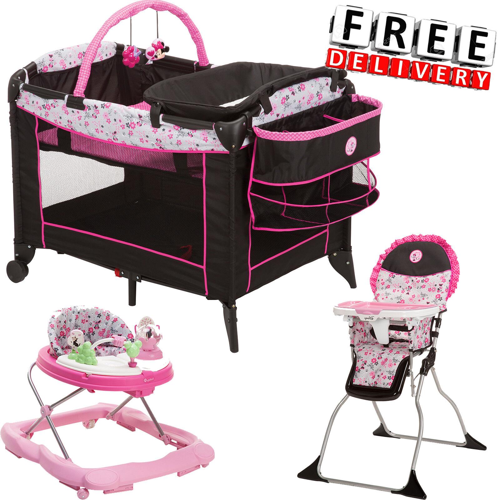 Baby Playard Playpen High Chair Walker Set Girl Toddler Chil