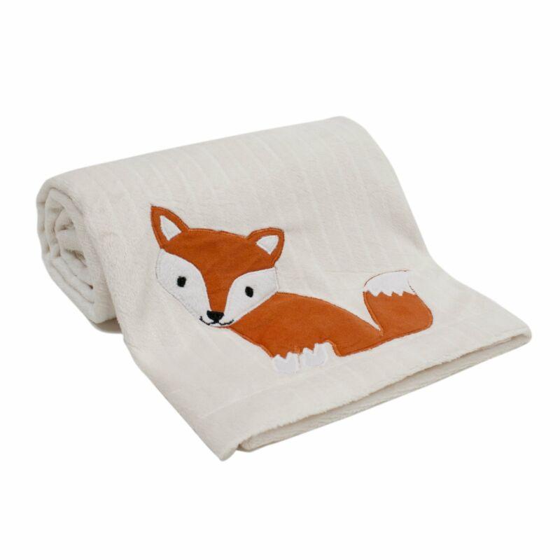 Lambs & Ivy Woodland Tales Cream Fox Baby Blanket