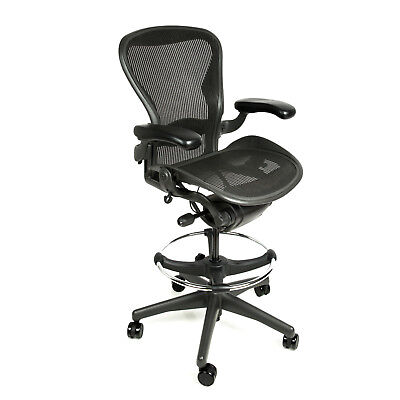 Herman Miller Aeron Drafting Stool Size C With After Market Ring