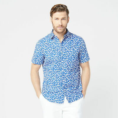 Nautica Mens Classic Fit Shark Print Shirt