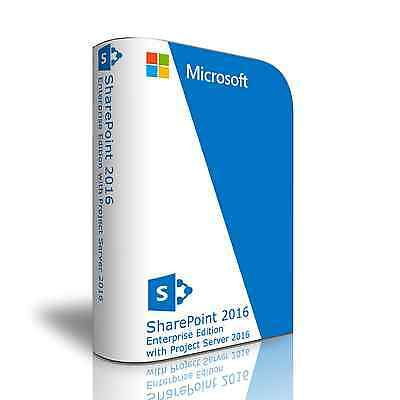 Sharepoint Server 2016 Enterprise Edition 64 Bit  New Unopened  Shrink Wrapped