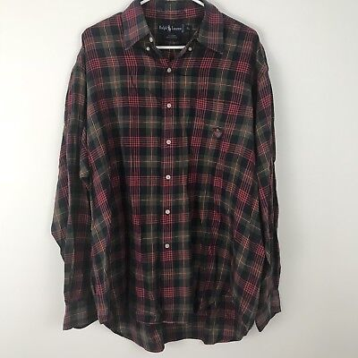 Clothing, Shoes & Accessories Ralph Lauren Denim & Supply Mens Green Blue Red Plaid Checker Button Shirt Nwt S Moderate Price