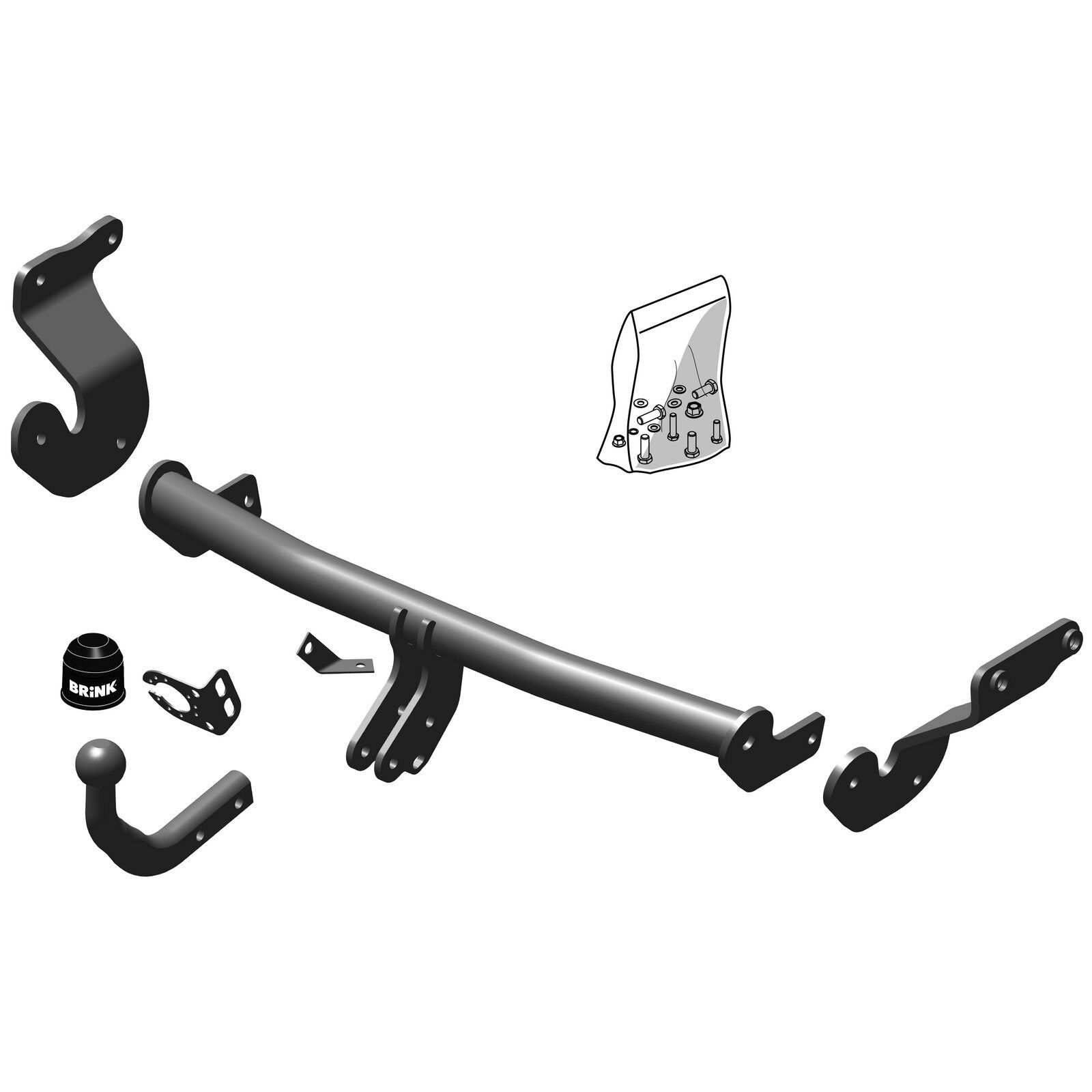 Swan Neck Tow Bar Brink Towbar for Hyundai i40 Saloon 2012 Onwards