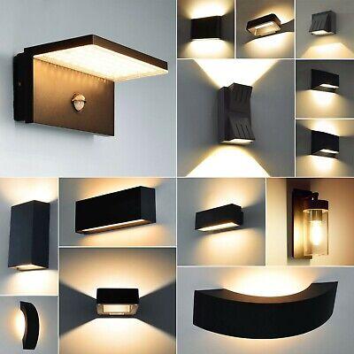LED Außenleuchte Wandleuchte Außenlampe Schwarz Gartenleuchte Aussenwandlampe