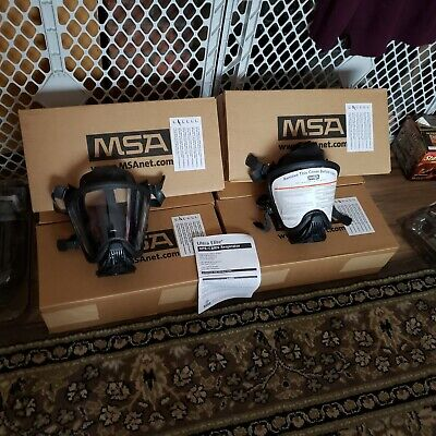 Msa Ultra Elite Aprcbrn Respirator With Bayonet Filter Adapter