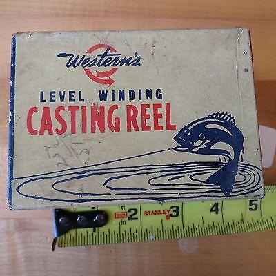 Vintage Western Casting fishing reel Miles Bay box (lot#9193)