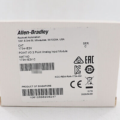 Allen-bradley 1734-ie2v Point Io 2 Point Analog Input Module Us Stock New