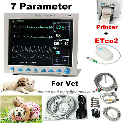Veterinary Vital Signs Icu Patient Monitor Capnograph Etco2 Printervet Pet Us