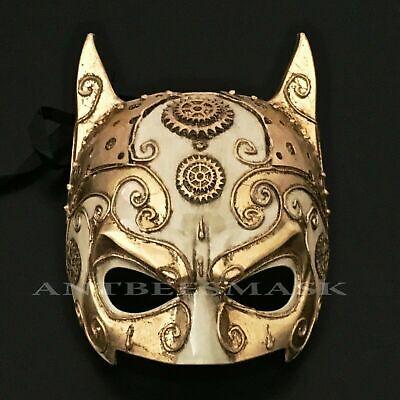 Venetian Style Half Face Antique Mask Man Halloween Party Steampunk - Antique Halloween Masks