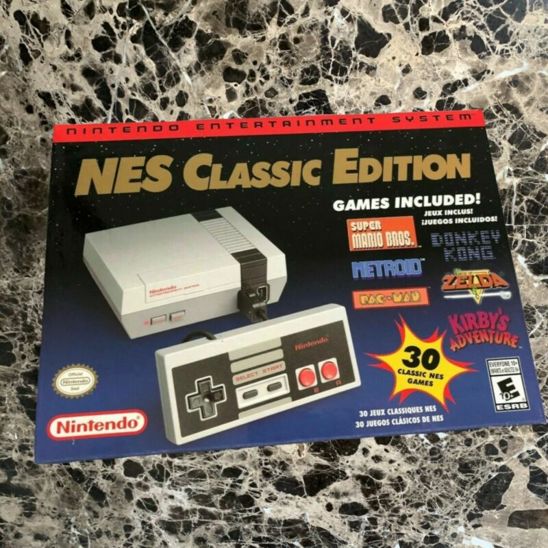 Nintendo NES Classic Edition Video Game Console New Original Retail Box 30 Games