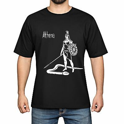 Athena of Greek mythology Men Cotton Funny Cool T-shirts Short Sleeve Tops Tee