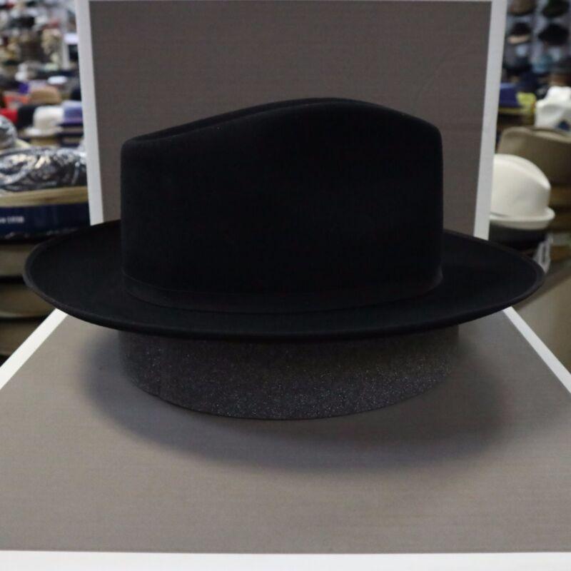 STETSON CHATHAM CARIBOU FUR FELT C-CROWN DRESS HAT