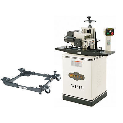 Shop Fox W1847 110V Single Phase Buffing System with 8-Inch Total Shaft