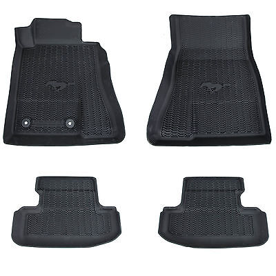 OEM NEW 2015-2017 Ford Mustang All Weather Tray Style Rubber Contour Floor Mats