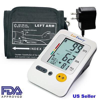 High Blood Pressure Monitorupper Arm Bp Cuffautomatic Machinepower Adapter