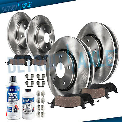Front Rear Brake Rotors Ceramic Pads for 2005-2018 Charger 300 Challenger RWD -