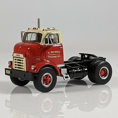 1/64 NEO Scale Models 1954 GMC C950 Cannonball Day Cab Tractor Trailer Truck