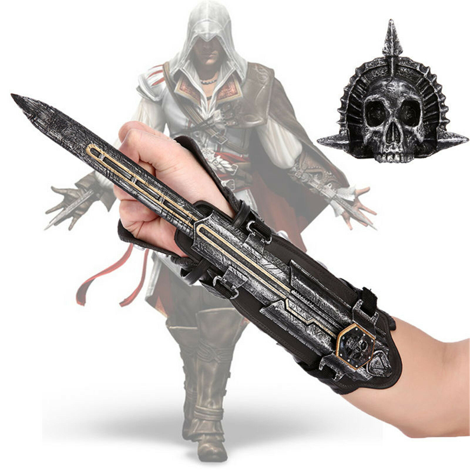 Assassin s Creed 4 Flag Pirate Cosplay Hidden Blade Edward Kenway Gauntlet  Gift f92f70f2412f