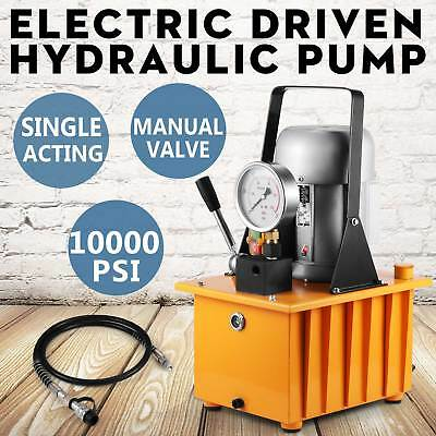 Electric Driven Hydraulic Pump Single Acting Remote Controlled 110v 10000psinew