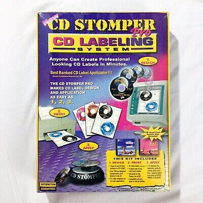 CD STOMPER PRO CD LABELING SYSTEM BRAND NEW SEALED PACKAGE Cd Stomper Label Software