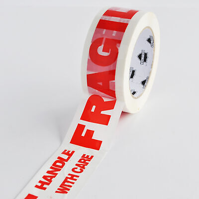 12 Rolls 2 Inch Fragile Marking Packing Tape Shipping 2.0 Mil 330 Feet 110 Yds