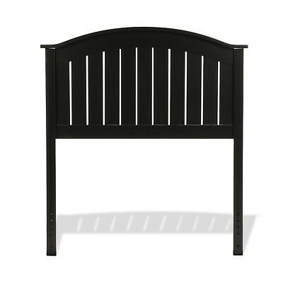 Finley Black Wooden Headboard Panel With Curved Top Modern Contemporary wood