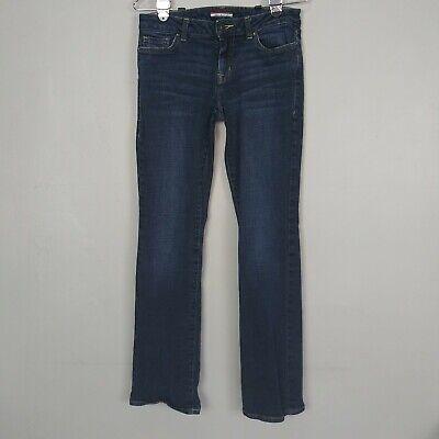 Tommy Hilfiger Women's 4 Dark Blue Rinse Denim Bootcut Mid Rise Jeans