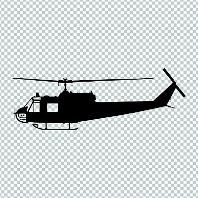 UH1H HUEY HELICOPTER CHOPPER MILITARY VINYL DECAL STICKER  for sale  Dothan